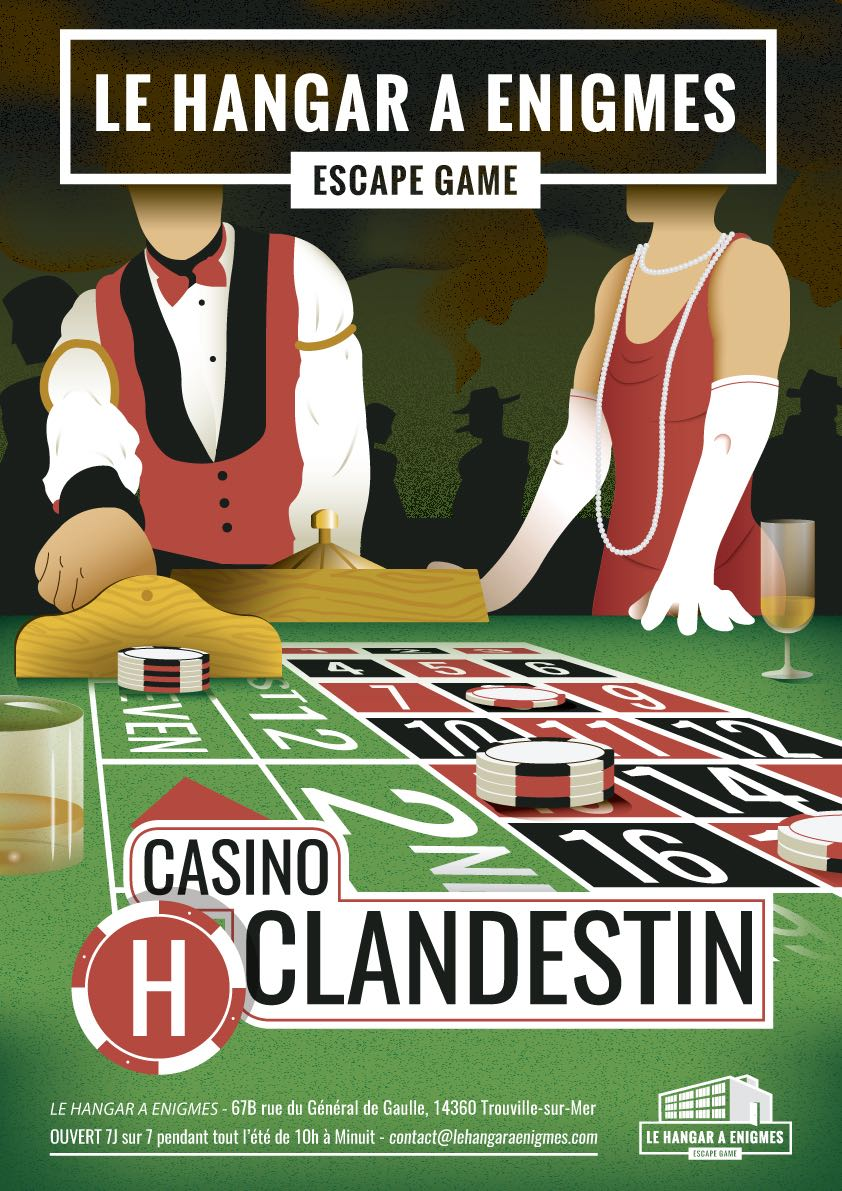 Affiche de notre mission : Casino Clandestin