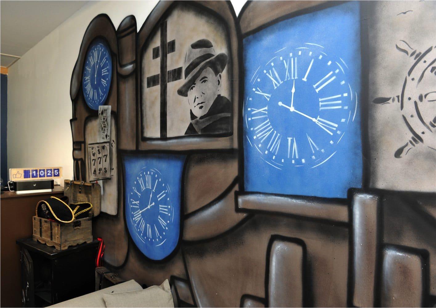 Fresque du Street-artiste Oré