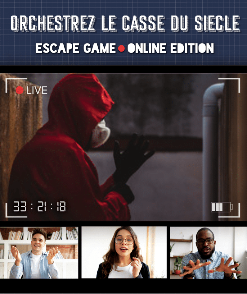 Affiche Escape Game en Ligne