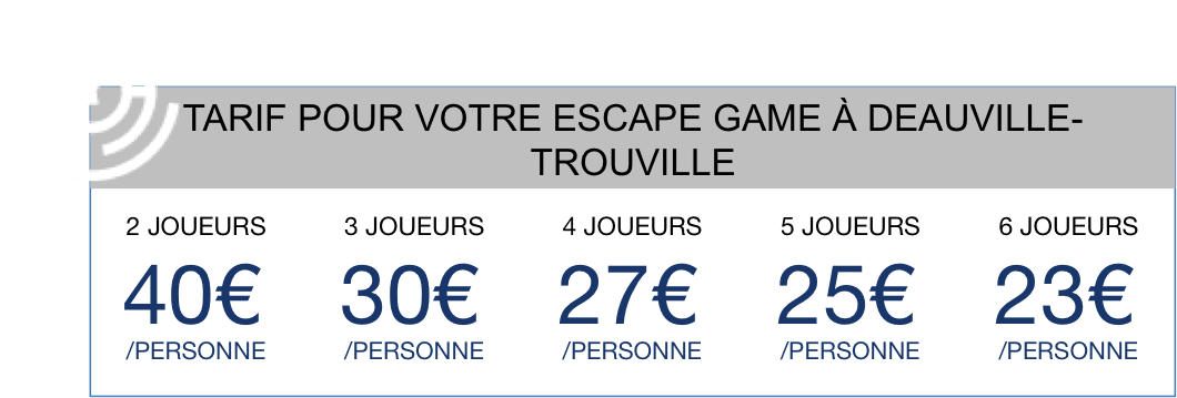 Tarif Escape Game Deauville-Trouville